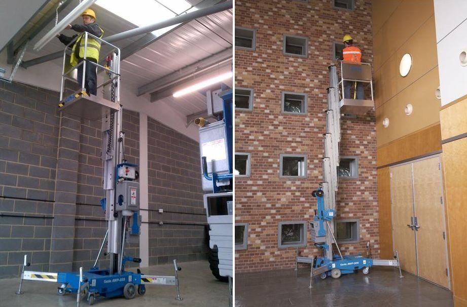 Rent Aerial Work Platforms AWP's | One Man Scissor Lift | Durante