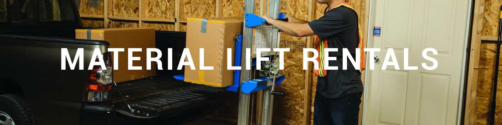 Rent a Material Lift | 12-21 Ft | 350-800 lbs  | Durante Rentals